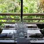 Excelente la mesa, la cristalería y sobre todo, la vista al jardín!