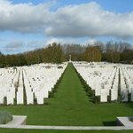 Hooge Crater Cemetery, from the bottom