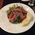 salad with goose breast