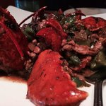 Whole lobster in black bean sauce