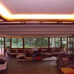 The living room at Fallingwater