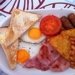 Breakfast done by Jackie in the bar/restaurant.
