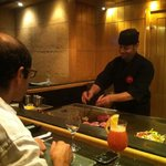 Tamer Omar @ the Tepenyaki table doing his thing :)