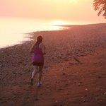 A run on the beach at sunrise