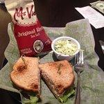 Lunch (tuna sandwich) at the restaurant on 1st floor