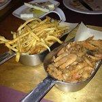 Fried shrimps Greek way