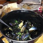 Mussels with Feta cheese