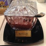 nutella in a crystal serving dish!