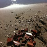 Building waste on the beach