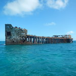 Let us show you the way to . . . Sapona, the concrete ship.  Snorkeling around this wreck is ama