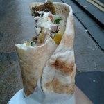 Falafel Wrap with Feta