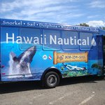 Hawaii Nautical's van picks up and delivers you after diving/snorkeling/sailing
