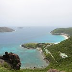 View showing Petite Anse and Flamands Beach
