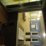 big washroom and one bathtub with 3 side windows, wonderful view