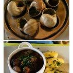 Prato do dia: escargots e boeuf bourguignon!
