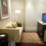 Small Living room area with flat screen TV in Junior Suite