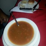 Minestrone Soup & mini rolls with butter K30