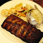 1/2 rack Rib with Shrimp special Albert's Bistro  |  2000 Highland Avenue, Brandon, Manitoba