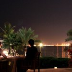 Dine with your love one at our patio overlooking the Arabian Gulf.