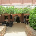The courtyard, great atmosphere for outdoor dining and music
