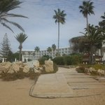 the hotel from beach