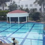 Gym in the center of the pool