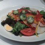 野菜とマグロのコンフィ