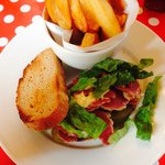 New to the menu. Salt Beef on Rye with fabulous chips.