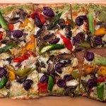 Artichoke, Olive, Asparagus, Roast Pepper & Mushroom Pizza