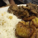 CURRIED GOAT, RICE AND PEAS