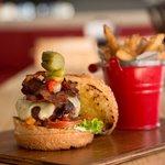 The delicious Classic Bacon Burger