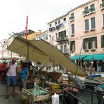 Floating veg market at end of Via Garibaldi