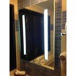 light within bathroom mirror