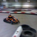 going sideways at xtreme karting