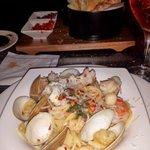 Half-portion seafood spaghetti
