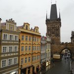 Charles bridge is literally right there!