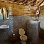 Private bathroom with hot shower