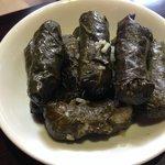 Hoja de uva (arroz y carne de borrego envuelto en hoja de uva)