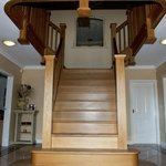 Hand made entrance hall staircase