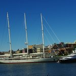 The 295 foot Athena in Victoria's Inner Harbour