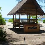 Adeng Adeng chill out area on the beach