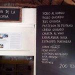 Carta menu