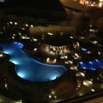New Winstar pool area night view from Pool Tower North