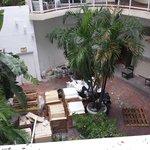 Courtyard outside my window.