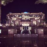 Emirates palace entrance. The restaurant is to the right