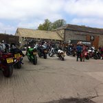 Bikers at the Manor