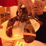 Our lobster before it went into our paella!!