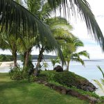 view from our Beachfront Fale