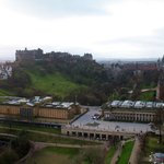 the castle from calton hill