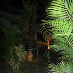 Palm Trees Goa Resort-Anlage bei Nacht